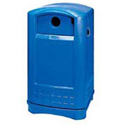 Rubbermaid Plaza® Bottle and Can Recycling Container, Blue