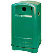 Rubbermaid Plaza® Bottle and Can Recycling Container, Dark Green