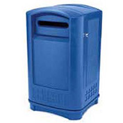 Rubbermaid Plaza® Paper Recycling Container, Blue