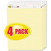 "Post-it® Easel Pads Self-Stick Easel Pads 561VAD4PK, 25"" x 30"", Yellow, 30 Sheets, 4/Pack"