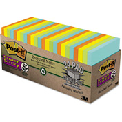 "Post-it® Super Sticky Notes Cabinet Pk 65424NHCP, 3"" x 3"", Farmers Market, 70 Sheets, 24/Pack"