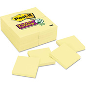 "Post-it® Notes Super Sticky Notes 65424SSCY, 3"" x 3"", Canary Yellow, 90 Sheets/Pad, 24/Pack"