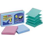 "Post-it® Super Sticky Pop-Up Notes R3306SST, 3"" x 3"", Tropic Breeze, 90 Sheets, 6/Pack"