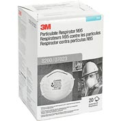 3M™ 8200/07023(AAD) N95 Particulate Respirator, Box of 20