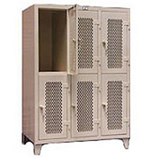 Strong Hold® Heavy Duty Ventilated Personal Locker 4.76-34-V-2TP - 2-Tier  54-1/2 x 34 x 78