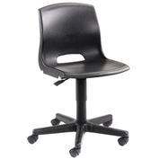 Plastic Office Chair - Black