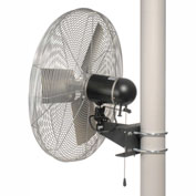 TPI 795722,24 Inch Pole Mount Fan Non Oscillating 1/3 HP 3800 CFM 1 PH TE Motor