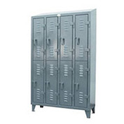 Strong Hold® Heavy Duty Slim-Line Locker 46-18-2TSL-SL - Slope Top Double Tier - 50x18x72