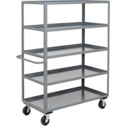 Jamco Heavy Duty Shelf Truck CE360 5 Shelves 60x30 3000 Lb. Capacity