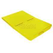 Lid for 1/3 Cu Yd Wright Yellow Self-Dumping Hopper