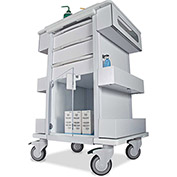 "TrippNT™ 51463 Element 01 All Purpose Healthcare Cart, 24""W x 19""D x 36""H, White"