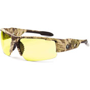 Ergodyne® 52350 Skullerz® Dagr Safety Glasses, Kryptek Frame/Yellow Lense - Pkg Qty 12