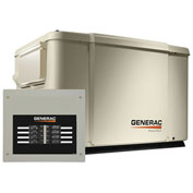 Generac 6998,6/7.5kW,120/240 1-Phase,Air Cooled Powerpact Generator,NG/LP,Steel Encl.,8-Cir. Switch