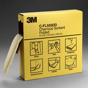 "3M™ C-FL550DD Chemical Sorbent Folded, High Capacity, 5"" x 50', 3 Dispenser Boxes/Case"