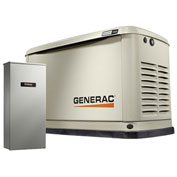 Generac 7032,10/11kW,120/240 1-Phase,Air Cooled Guardian Generator,NG/LP,Alum. Encl.,16-Cir. Switch