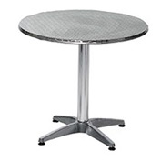Premier Hospitality Round 24 Inch Stainless Steel Table