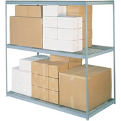 "Wide Span Rack 72""W x 24""D x 84""H With 3 Shelves Wire Deck 900 Lb Capacity Per Level"