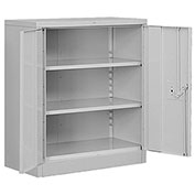 "Salsbury Heavy Duty Storage Cabinet - Counter Height - 36"" W  x 18"" D x 42"" H - Gray - Assembled"