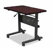 "Balt® Flipper Training Table, 36"" x 24"" Mahogany"