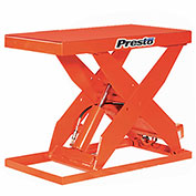 PrestoLifts™ HD Scissor Lift Table XL48-20 64x24 Hand Operated 2000 Lb.