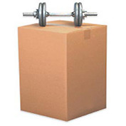 "Heavy-Duty Cardboard Corrugated Box 24"" x 18"" x 12"" 275lb. Test/ECT-44 - 15 Pack"