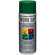 Krylon Industrial Green Work Day Enamel Paint - A04408 - Pkg Qty 12