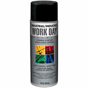 Krylon Industrial Work Day Enamel Paint Flat Black - A04412 - Pkg Qty 12