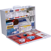 First Aid Only™ 90573 2 Shelf First Aid Kit w/Meds, ANSI Compliant, Class B+, Metal Cabinet