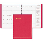 "AT-A-GLANCE® Wire bound Monthly Appointment Book 5/16"" x 9-1/2"" x 11-3/8"" Red"