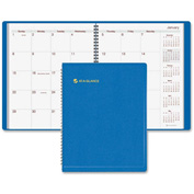 "AT-A-GLANCE® Wire bound Monthly Appointment Book 5/16"" x 9-1/2"" x 11-3/8"" Blue"