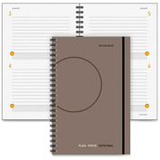 "AT-A-GLANCE® Undated Planning Notebook 5/8"" x 6-1/2"" x 9-5/16"" Gray"