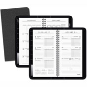 AT-A-GLANCE® Executive Deluxe Weekly/Monthly Appointment Book, 3 1/4 x 6 1/4, White, 2017