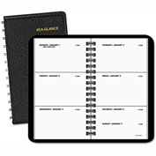 AT-A-GLANCE® Weekly Planner, 2 1/2 x 4 1/2, Black, 2017