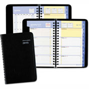 AT-A-GLANCE® QuickNotes Weekly/Monthly Appointment Book, 3 3/4 x 6, Black, 2017
