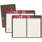 AT-A-GLANCE® Sorbet Weekly/Monthly Appointment Book, 5 1/2 x 8 1/2, Brown/Pink, 2017