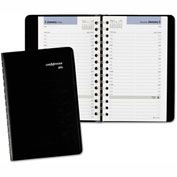 DayMinder® Daily Appointment Book, 4 7/8 x 8, Black, 2017