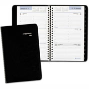 DayMinder® Weekly Appointment Book with Telephone/Address Section, 4 7/8 x 8, Black, 2017