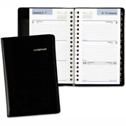 DayMinder® Weekly Pocket Appt. Book, Telephone/Address Section, 3 3/4 x 6, Black, 2017
