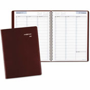 DayMinder® Weekly Appointment Book, 8 x 11, Burgundy, 2017