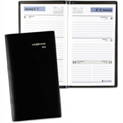 DayMinder® Weekly Pocket Planner, 3 1/2 x 6 3/16, Black, 2017