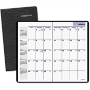 DayMinder® Pocket-Sized Monthly Planner, 3 5/8 x 6 1/16, Black, 2016-2017