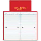 """AT-A-GLANCE® Standard Diary Reminder 5"""" x 3"""" x 1/16"""" Red"""