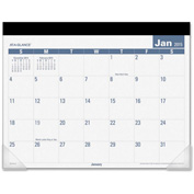 "AT-A-GLANCE® E-Z Read Monthly Desk Pad 1/8"" x 21-13/16"" x 17-1/8"" White"