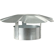 "Speedi-Vent 6"" Galvanized Umbrella Roof Vent Cap EX-RCGU 06"