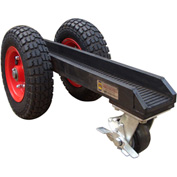 "Abaco 3 Wheel Slab Dolly 3WD Pneumatic Rubber Tires 880 Lb. W.L.L. 3-1/8"" Channel"