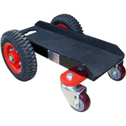 "Abaco 4 Wheel Slab Dolly 4WGD Solid Rubber Tires 660 Lb. W.L.L. 6-5/8"" Channel"