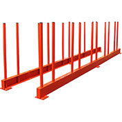 "Abaco RES27, Remnant Slab Rack 118""L x 2""W x 28""H, 14,000 lbs Cap"