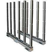 "Abaco RSR10R, Rhino Slab Rack with Rubber Lined Poles, 118""L x 7""W x 50""H, 30,000 lbs Cap"