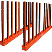 "Abaco SRK10R, Slab Rack with Rubber Lined Poles, 118""L x 7""W x 60""H, 30,000 lbs Cap"