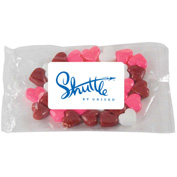 Small Promo Candy Pack - Fill Options: Chocolate Littles, Candy Hearts or Candy Stars